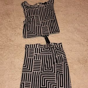 Forever 21 2 piece dress, size m